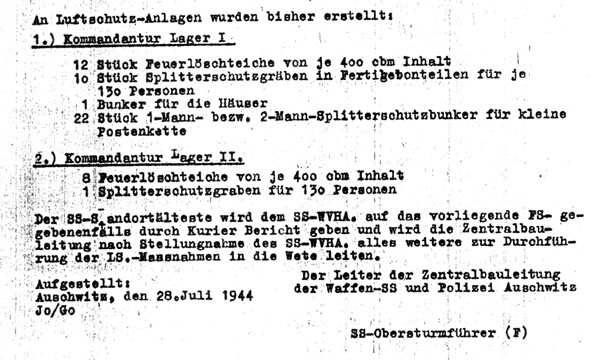 Aktenvermerk of Jothann of 28 June 1944