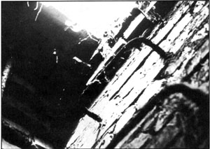 Document 45. View of the inside of the manhole of document 46 with its access ladder
