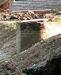 Leichenkeller 1 of Krema III in 2000