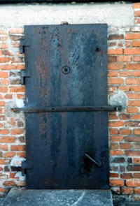 External door of the north-east gas chamber.