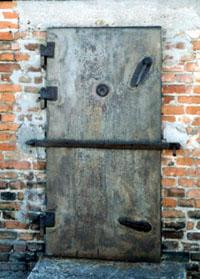 External door of the north-west  gas chamber.