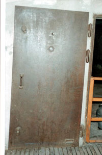 External door of the north-east gas chamber