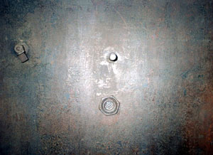 External door of the<BR> north-east gas chamber, internal view